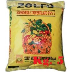ZOLFO GIALLO TRIVENTILATO SCORREVOLE 95% KG. 5 MANNINO